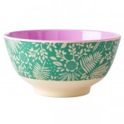 Melamine bowl Ferns & flowers från Rice finns hos halloncollection.se