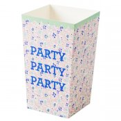 Popcorn & party boxar 6p rosa Rice