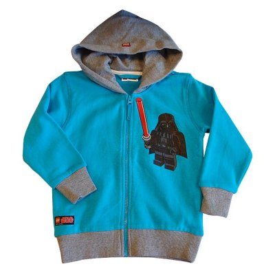 *Sweat hood Darth Vader turkos (134) LEGOwear