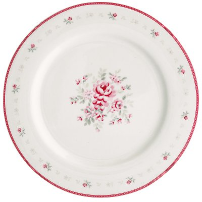 Dinnerplate Flora white från Greengate finns hos halloncollection.se