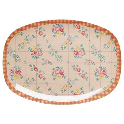 Bricka Embroidered Flower print från Rice
