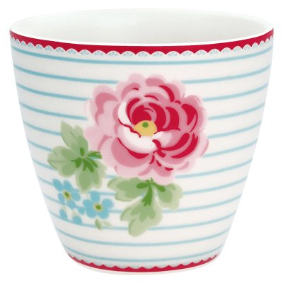 Latte mugg Lily white från Greengate finns hos halloncollection.se