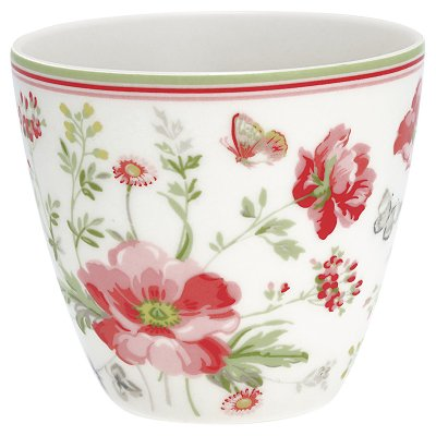 Latte mugg Meadow white från Greengate finns hos halloncollection.se