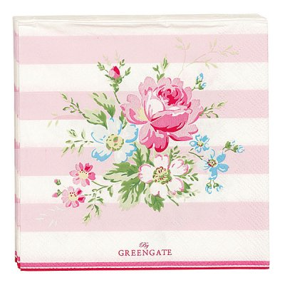 Servetter Marie pale pink 20-pack från GreenGate finns hos halloncollection.se