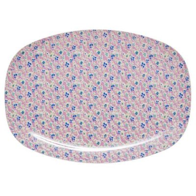 Bricka/fat cascading flower print Rice