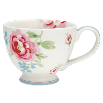 Tea cup Meryl white från Greengate finns hos halloncollection.se